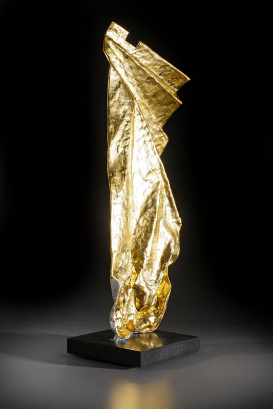paper dress metal sculpture