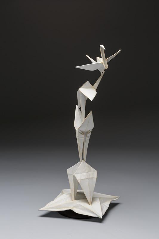 origami crane sculpture