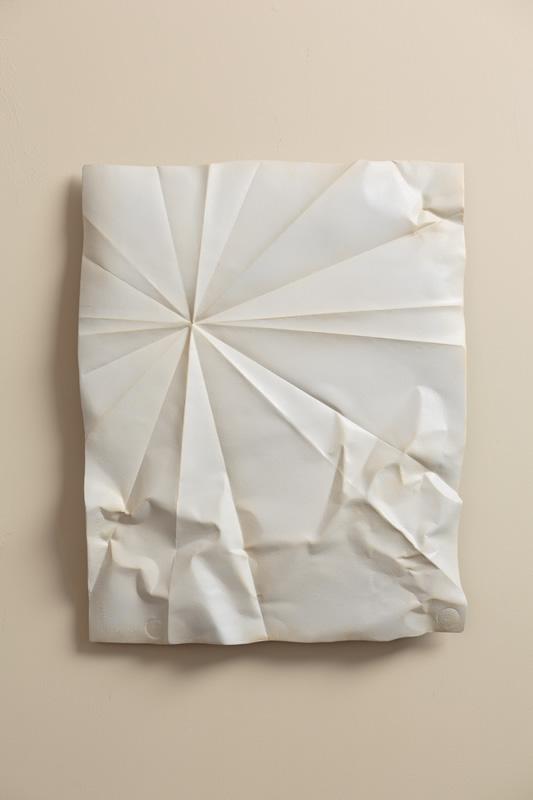 folded paper metal sculpture