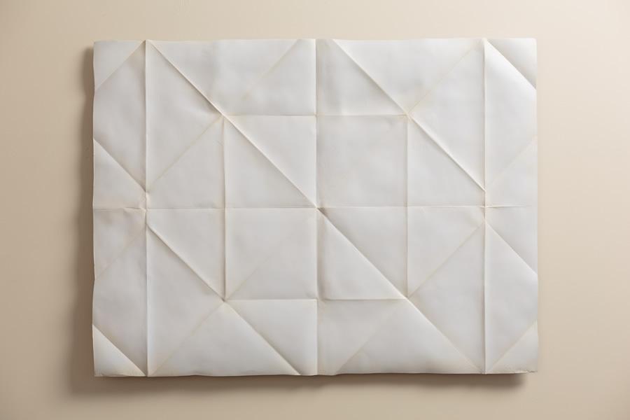 folded paper metal sculptures