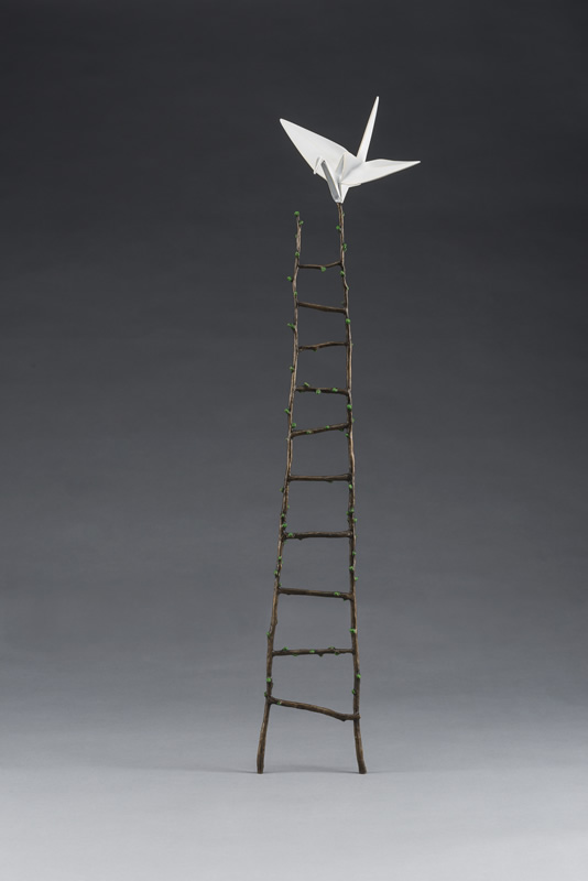crane and ladder sculpture