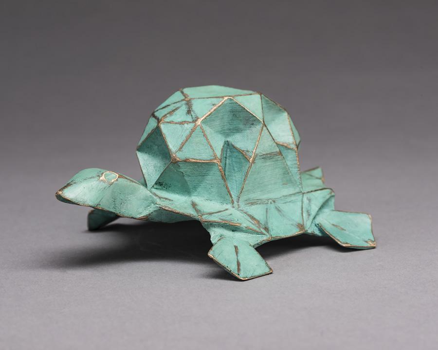origami tortoise sculpture