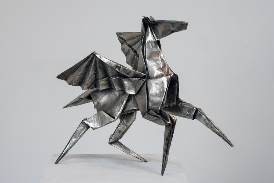 origami pegasus sculpture