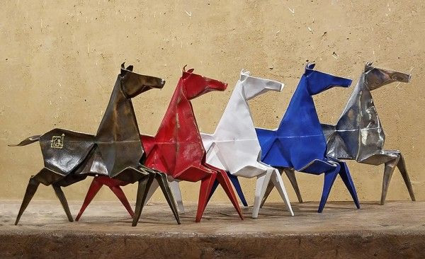 origami pony sculpture