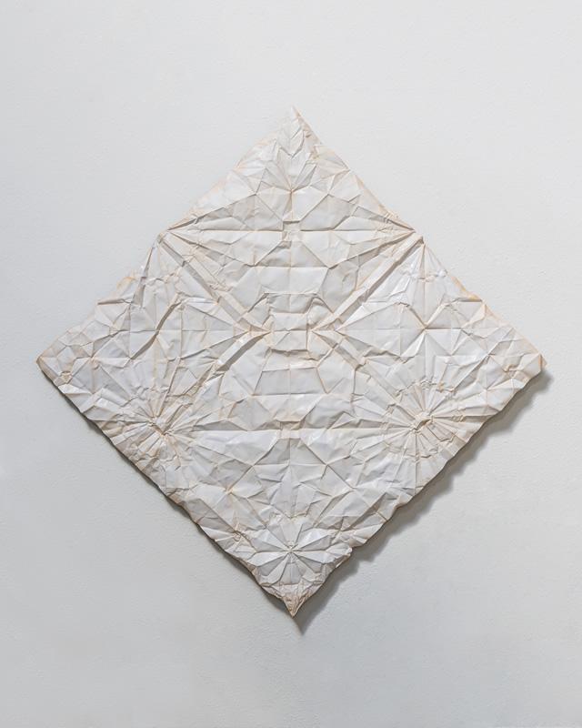 unfolded paper metal sculpture