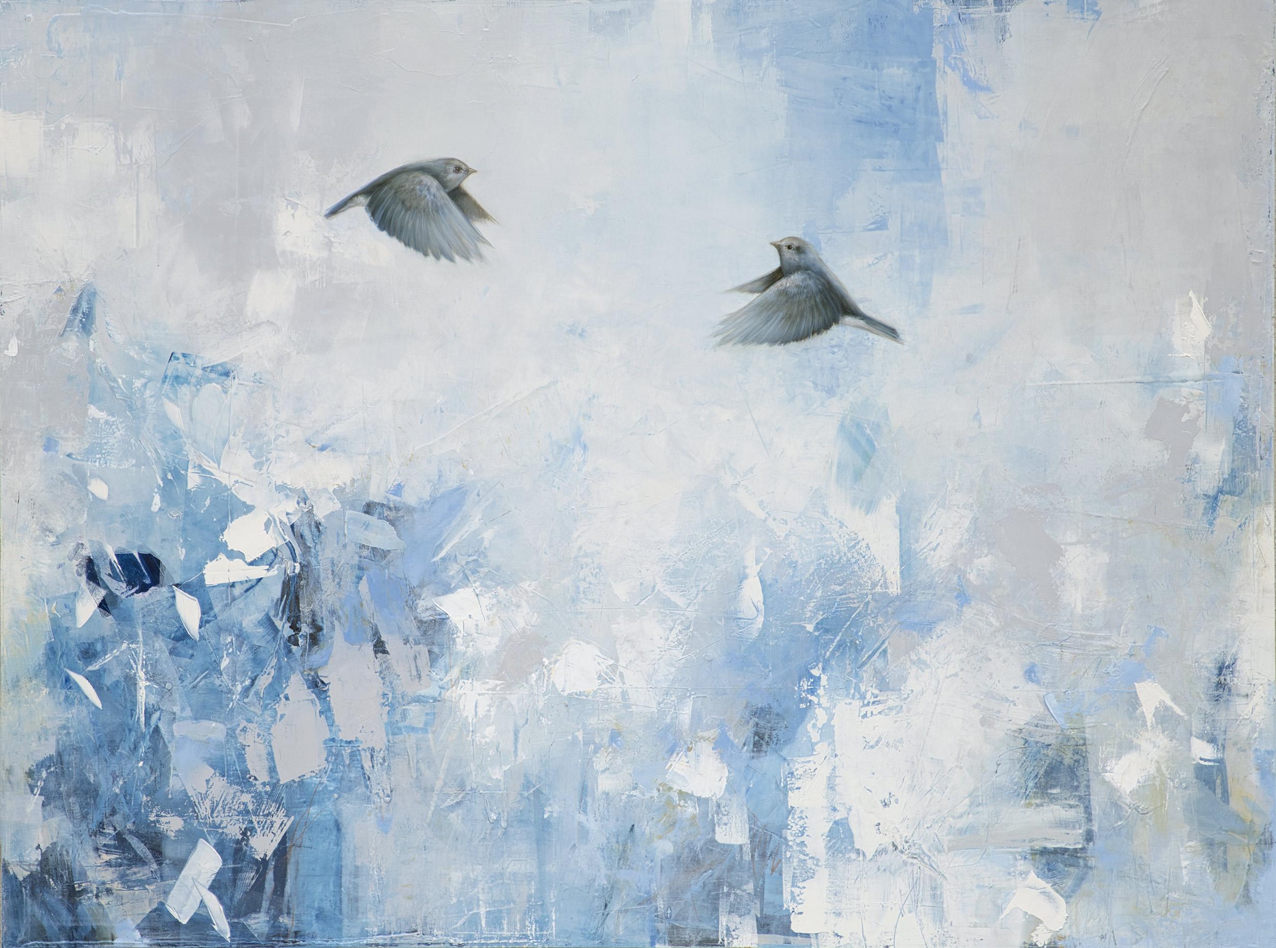 Over A Garden of White + Blue