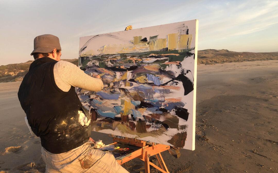 Watch Nathanael Gray plein air paint at Abbots Lagoon