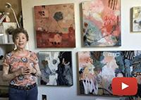 Inside the studio of mixed media artist Francoise Barnes