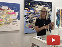Artist Kate Rivers discusses the process and inspiration behind her nest paintings
