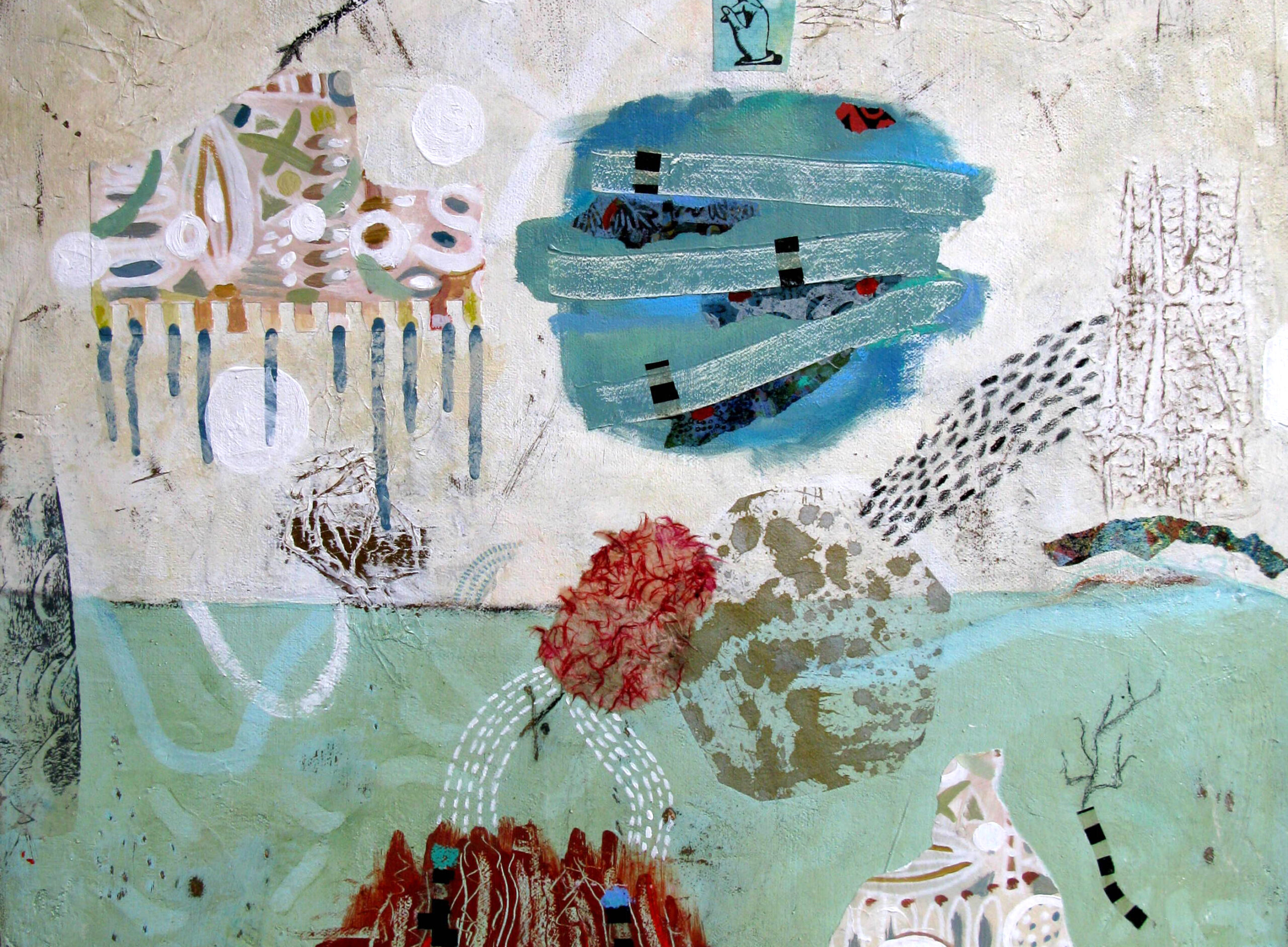 Francoise Barnes  mixed media abstract paintings`
