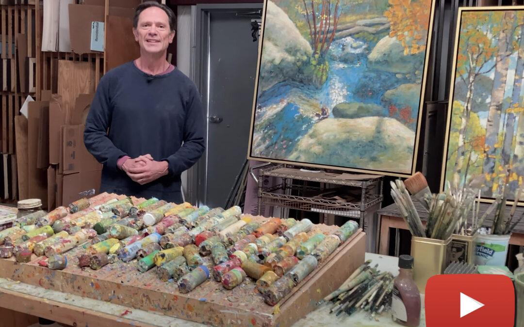 Rick Stevens showcases his newest works of art