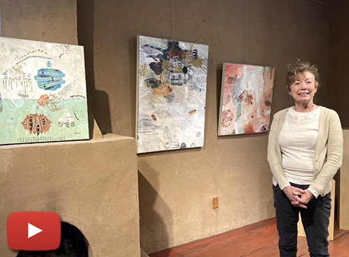 Mixed media artist Françoise Barnes at Kay Contemporary Art