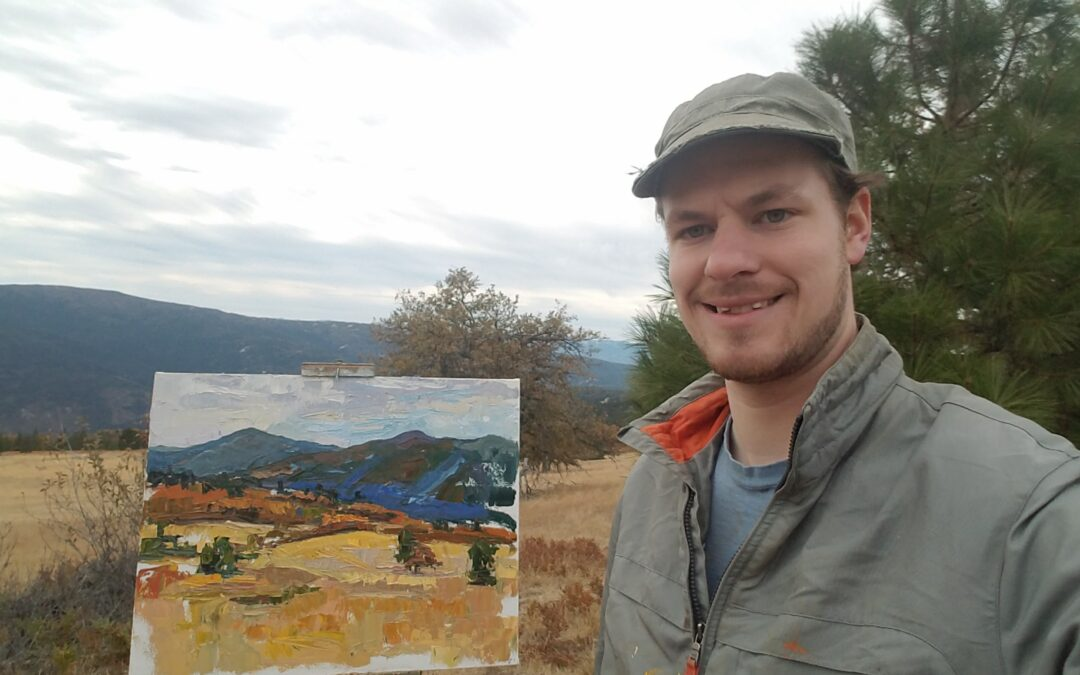 Meet the Artist! Plein air painting with Nathanael Gray.