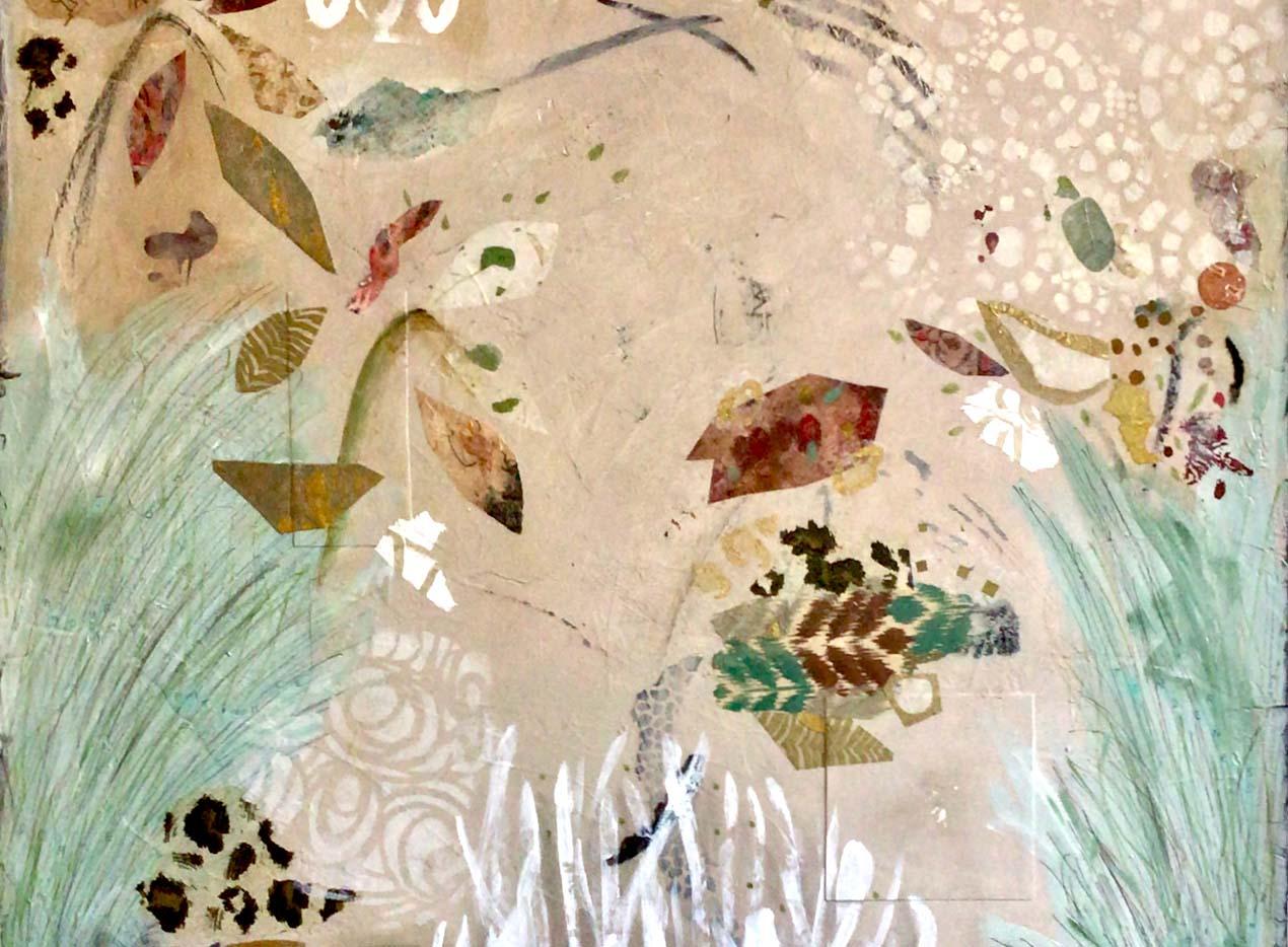 Francoise Barnes  mixed media abstract paintings`